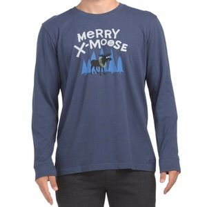 Life is good merry x-moose long sleeve
